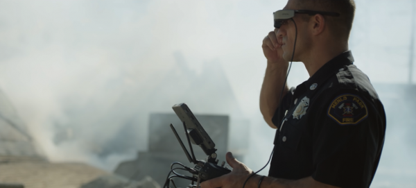 Augmented Reality used in combination with Epson DJI firefighters