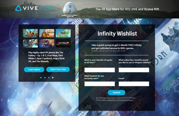 Viveport Infinity Survey