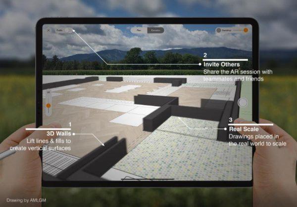 Explore spaces in AR with SketchWalk