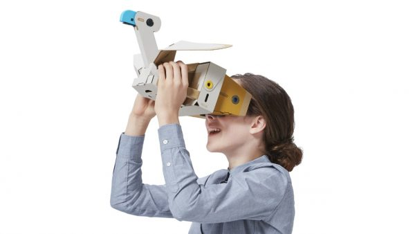 You can look through the wrong of a bird with the Nintendo Labo VR Kit