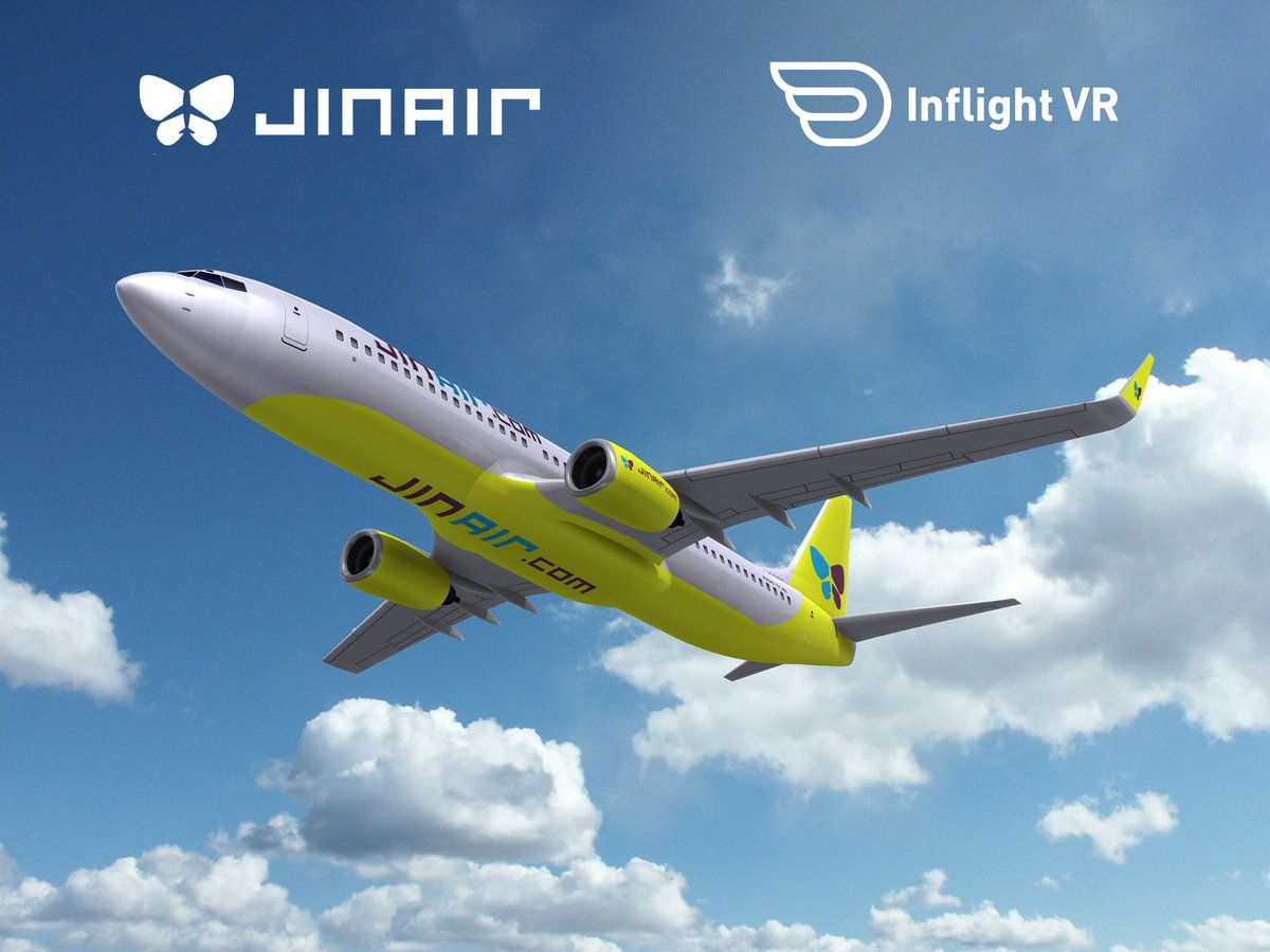 VR Inflight Entertainment now also available onboard Jin Air