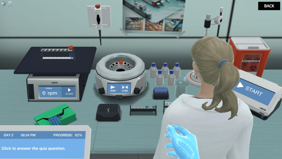 A virtual reality lab simulation