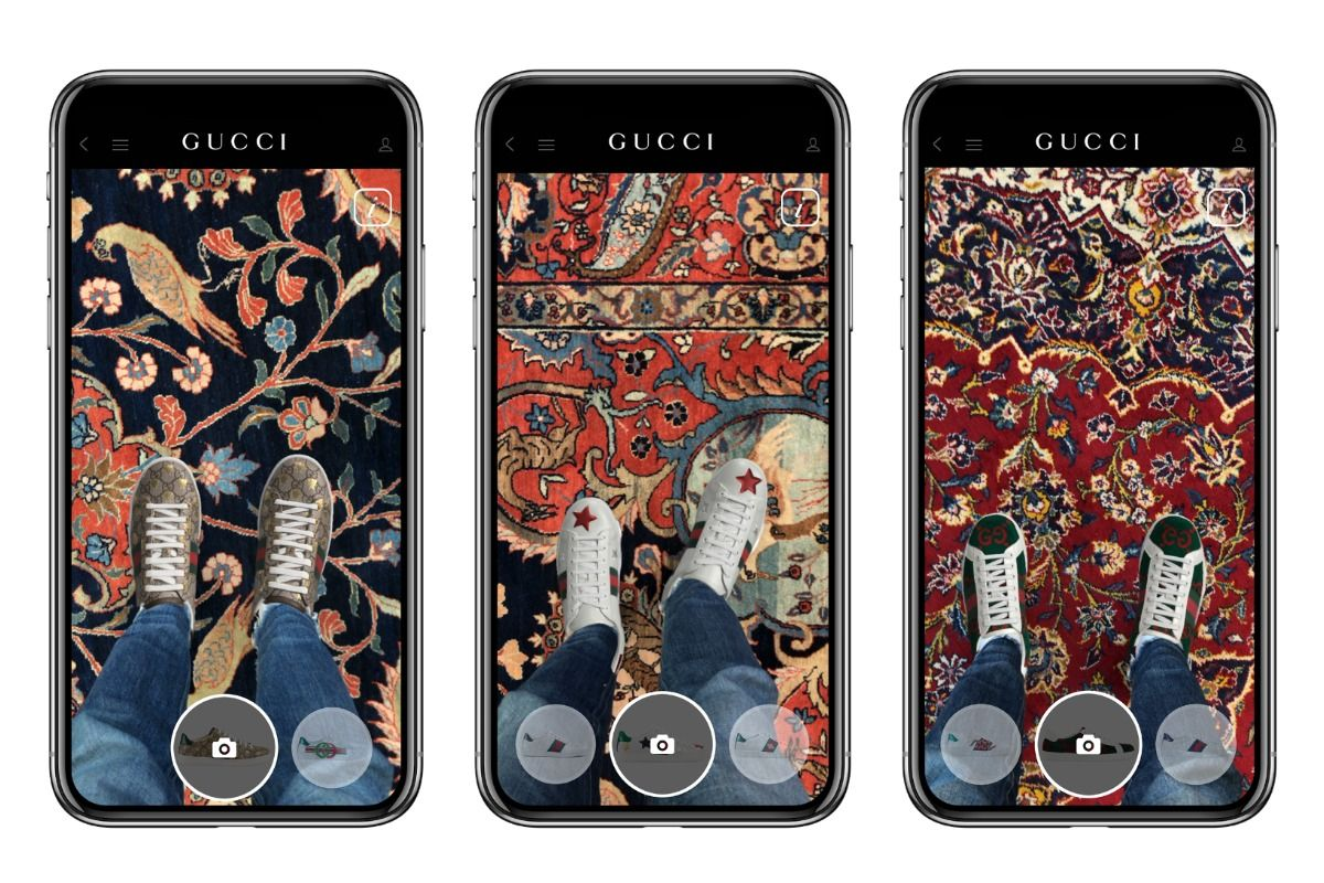 Gucci Augmented Reality app