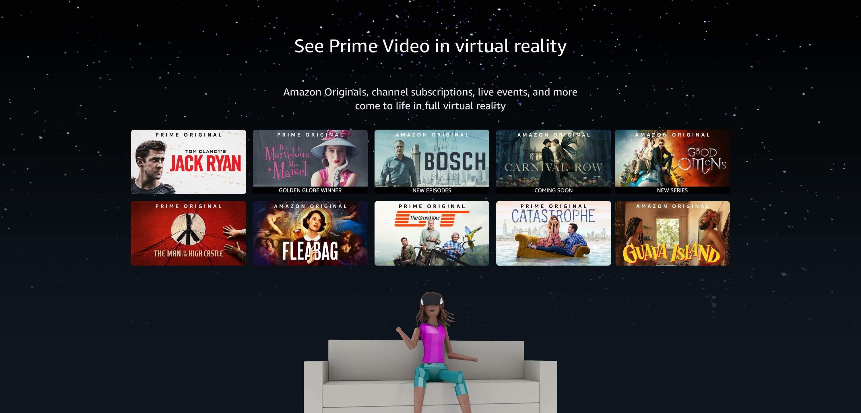 Amazon Prime Video VR service