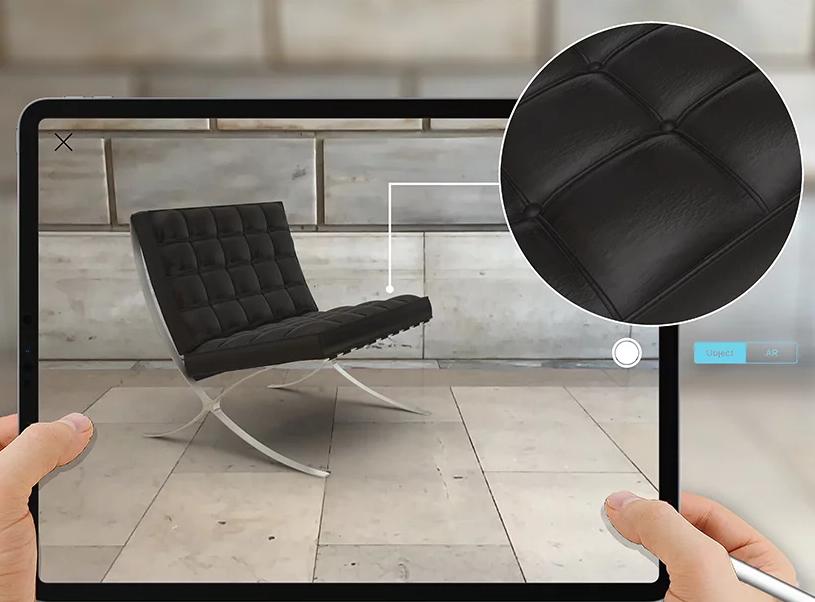 The tool can be used to overlay furniture in any environment