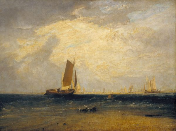 Fishing upon the Blythe-Sand, Tide Setting In exhibited 1809 by Joseph Mallord William Turner 1775-1851