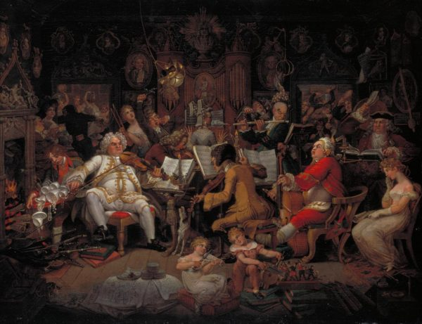 Amateurs of Tye-Wig Music ('Musicians of the Old School') c.1820 by Edward Francis Burney 1760-1848