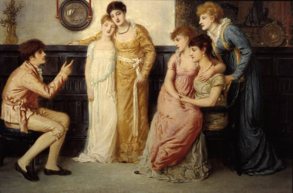 A Youth Relating Tales to Ladies 1870 by Simeon Solomon 1840-1905