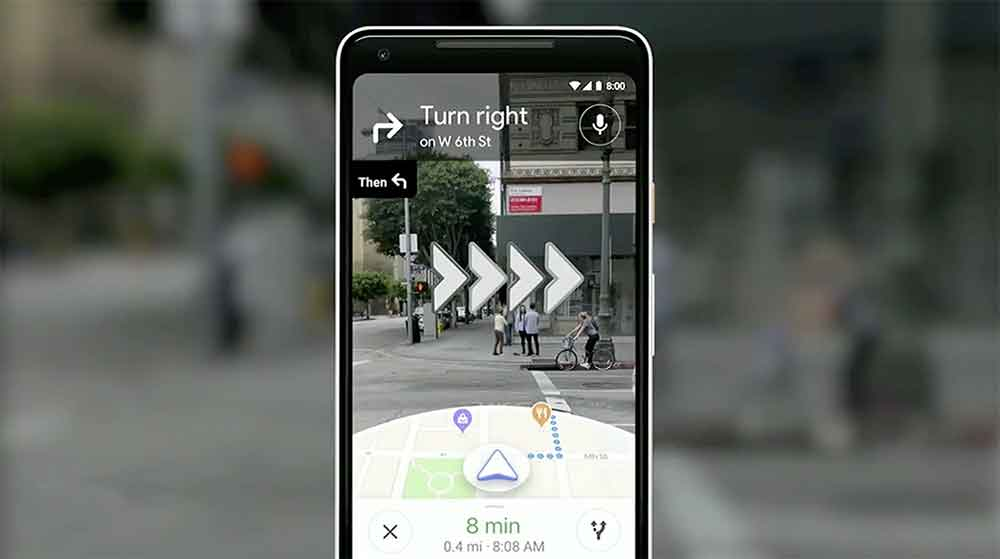 Google Maps AR Walking Directions