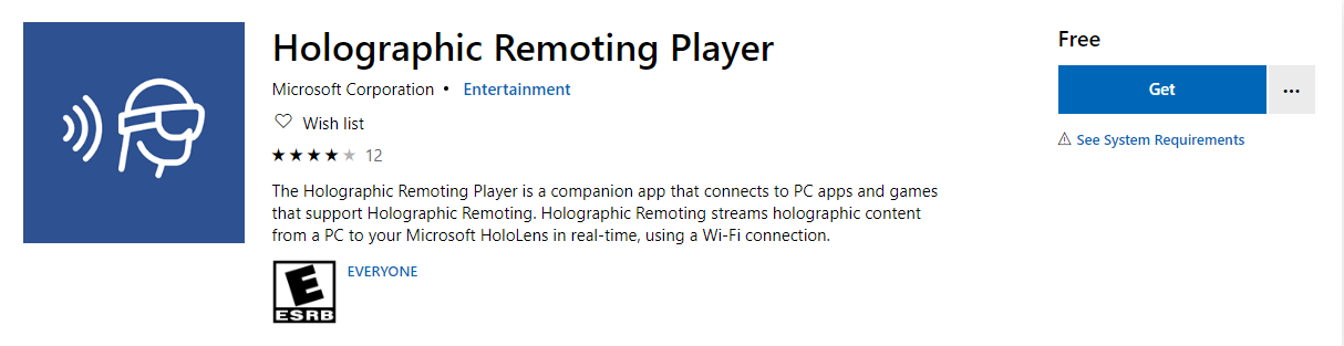 Holographic Remoting Player
