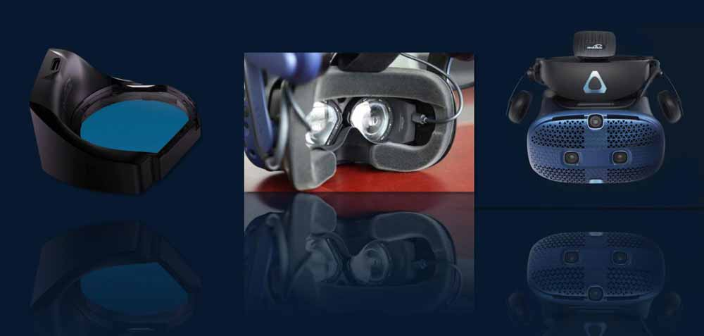 The eye tracking addon is manually installed on the virtual reality headset
