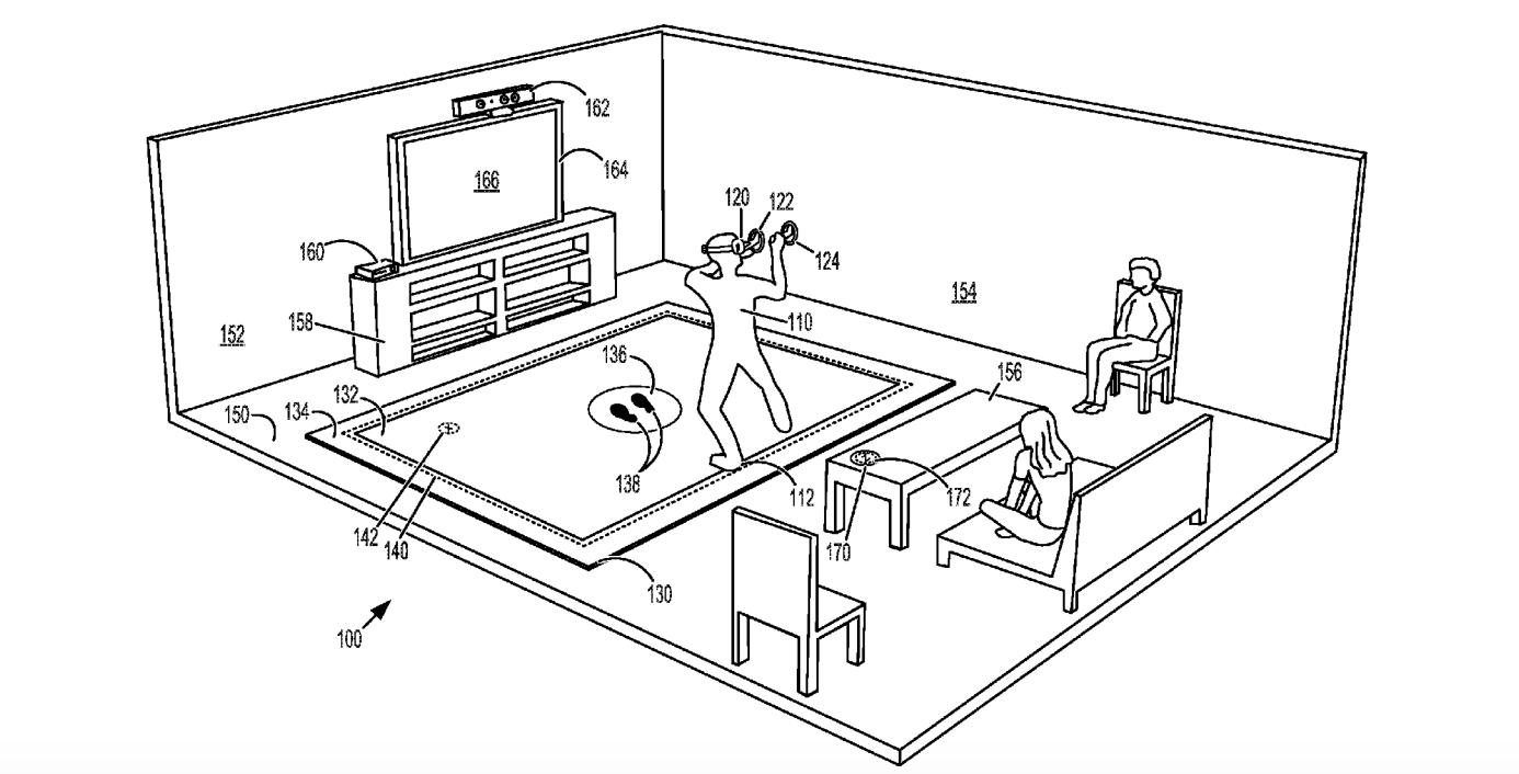 Microsoft VR Floor Mat Patent Application