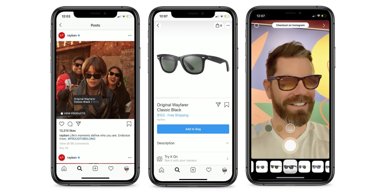 Instagram Shopping Spark AR