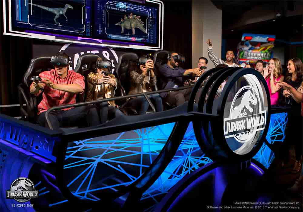Jurassic World at Dave & Busters Delivering VR rollercoaster as a platform