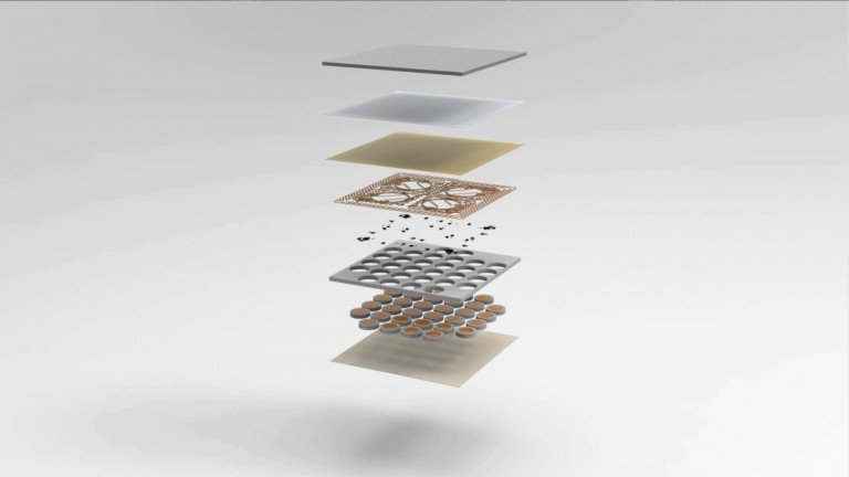 The artificial skin consists of several layers