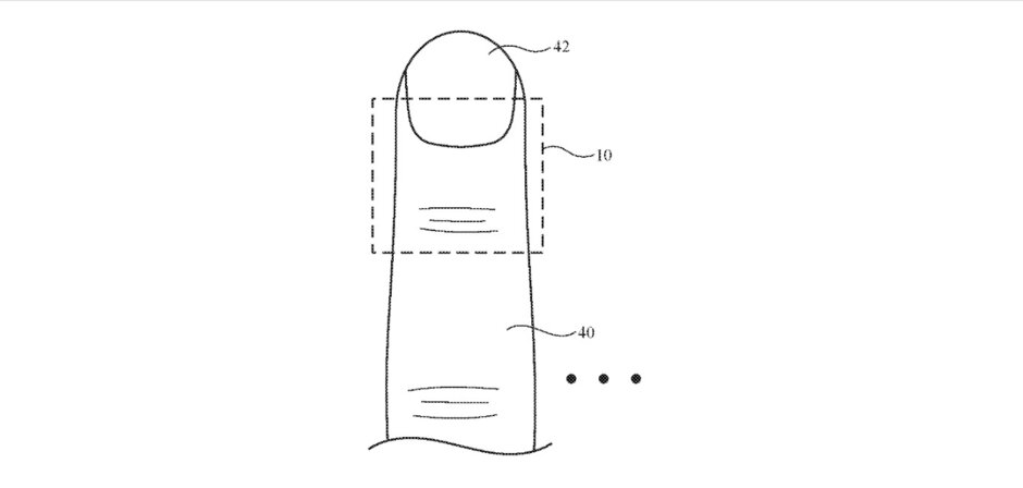 Illustration of Apple Patent Application for a finger tracking device