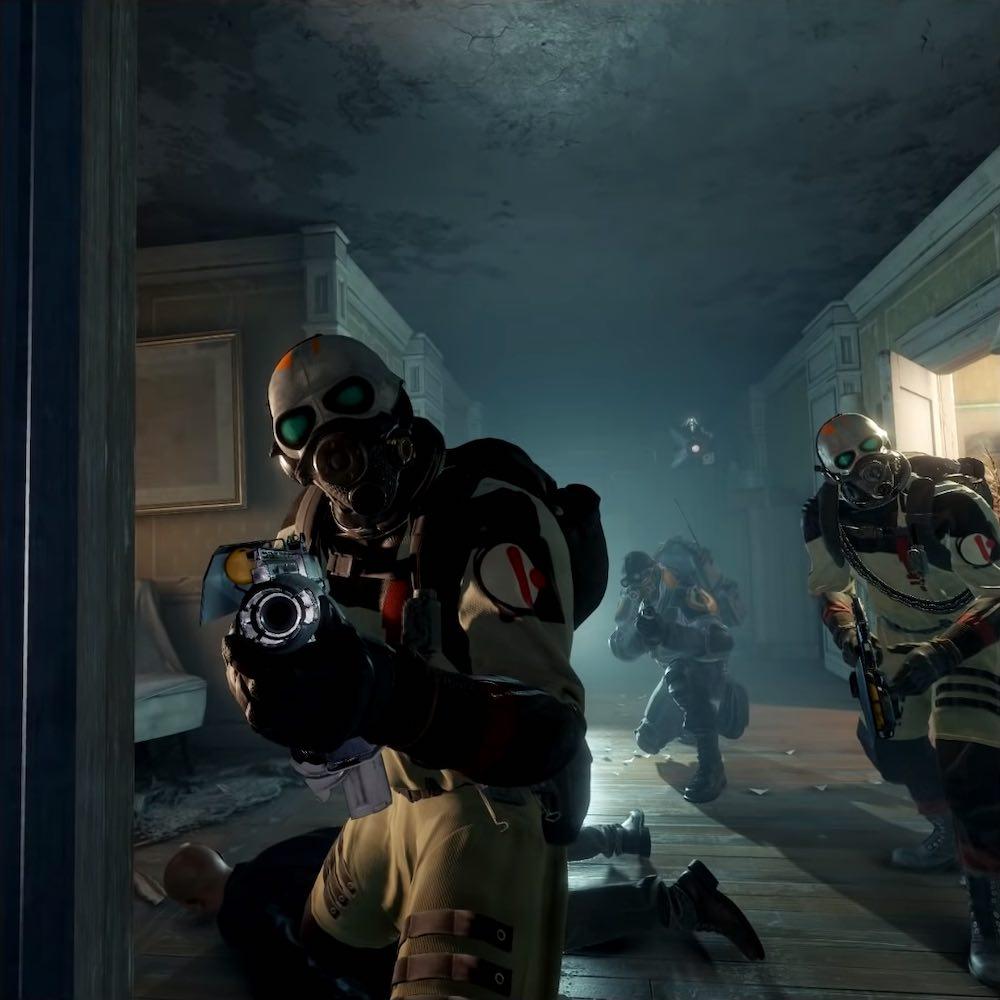 Half-Life: Alyx VNN Screenshot of the Combine soldiers up close