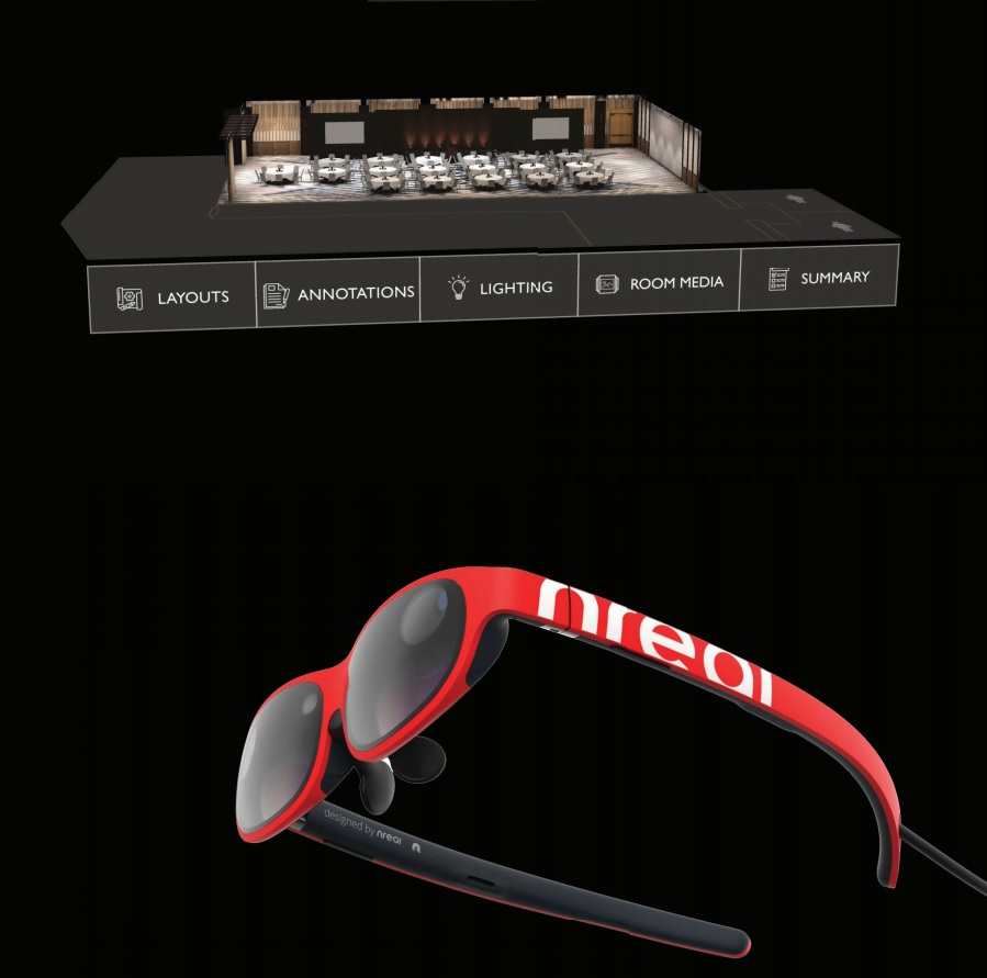 XR Event Planner also works with Nreal Glasses