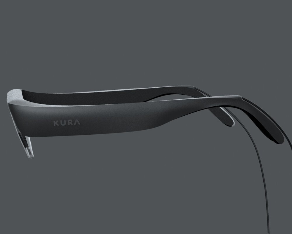 Side view of the Kura AR Glasses