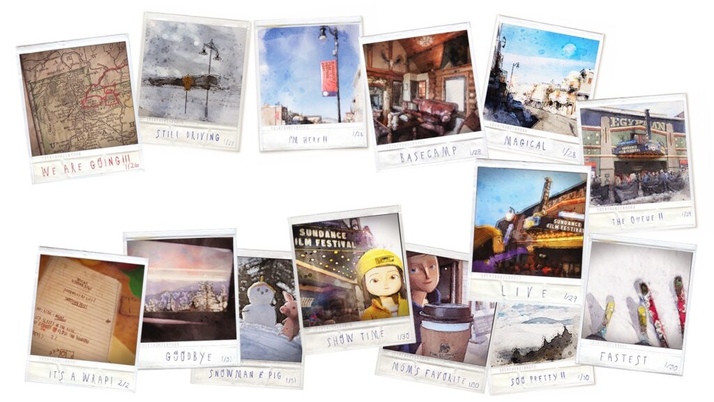 Lucy's Sundance 2021 Journey in Polaroids