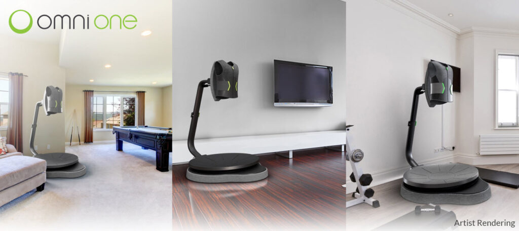 Artist Rendering of Virtuix Omni One omnidirectional treadmill